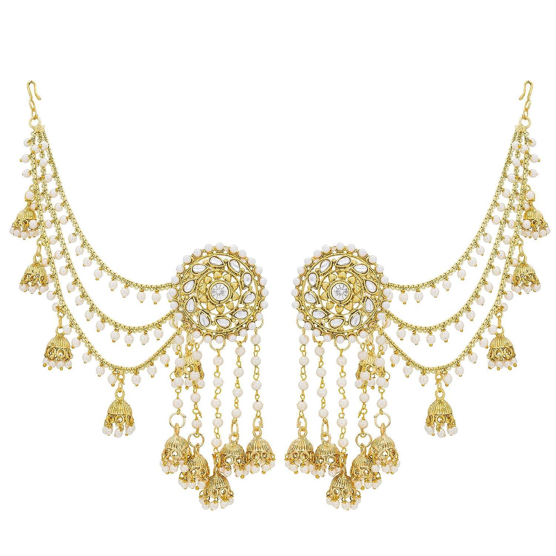 The Luxor Traditional Gold Jewellery Bahubali Pearl Kundan