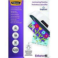 Fellowes 5306114  ImageLast Laminierfolien (80 Mikron, DIN A4, 100 Stück ) transparent