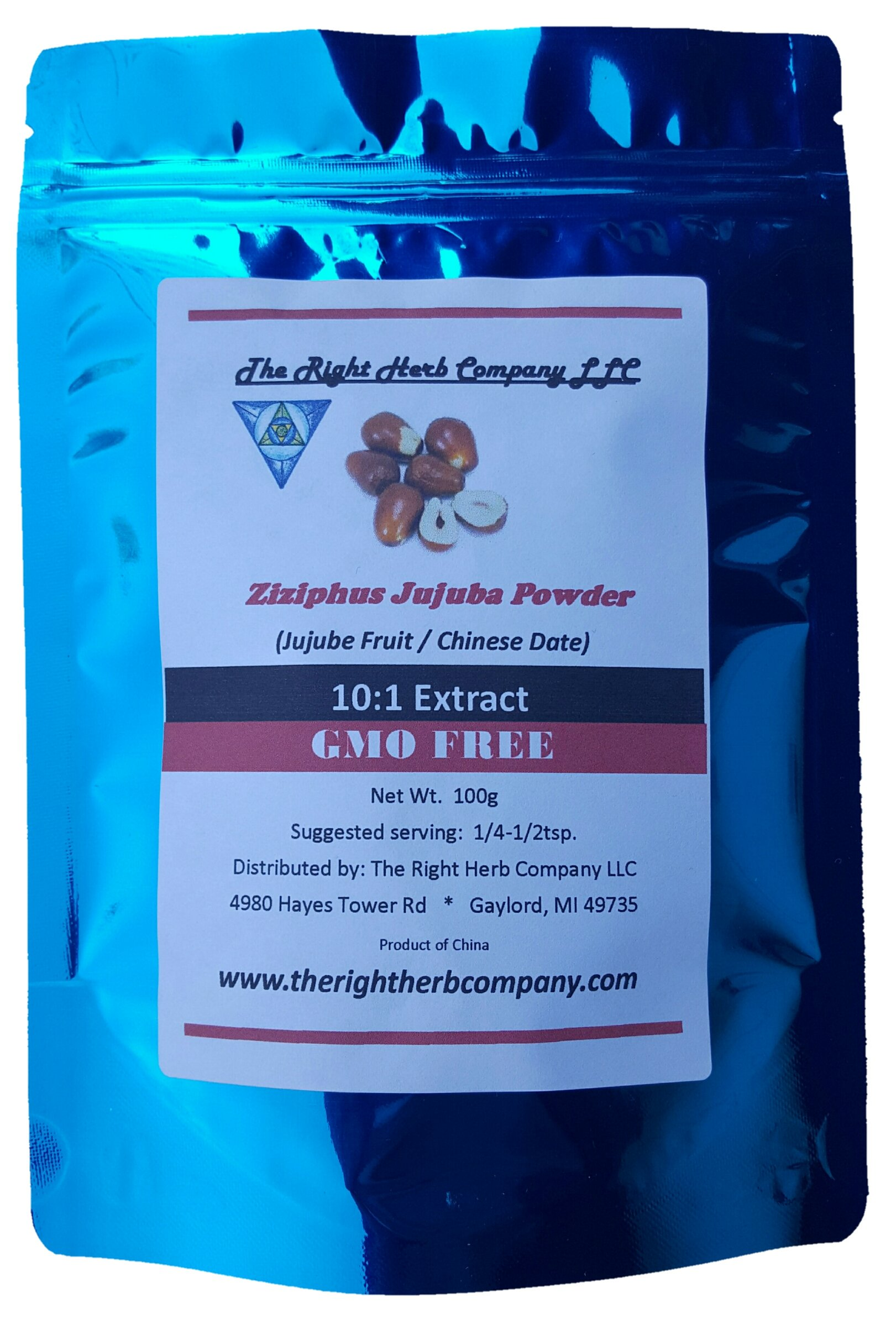 Ziziphus Jujuba * Red Jujube Fruit Herb Extract Powder * Hong Zao - 100g/3.5oz