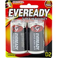 Eveready Super Heavy Duty 1250BP-2 D, 2ct
