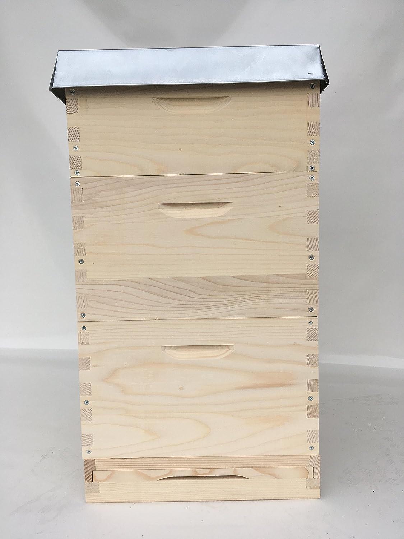 Langstroth ,Beute,Bienenbeute,Bienenkasten mit 30 Rähmchen,gedrahtet ...