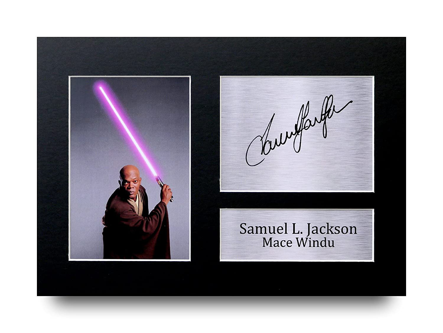HWC Trading Samuel L. Jackson Gift Signed A4 Printed Autograph Star Wars Gifts Mace Windu Print Photo Picture Display