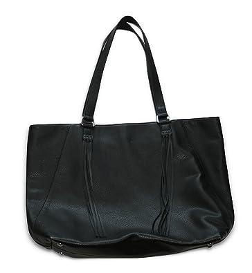 Banana Republic Faux Leather Fringe Tote Handbag (Black) Bag 192221-00-1 d21cd6d55eeeb