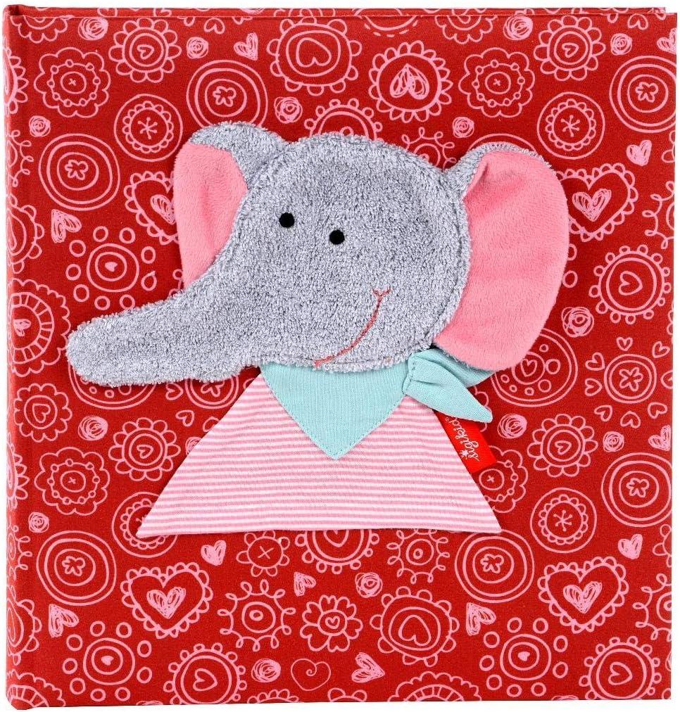 color rosa /Álbum de fotos para reci/én nacidos dise/ño de conejo texto en alem/án Goldbuch Babyalbum Sigikid