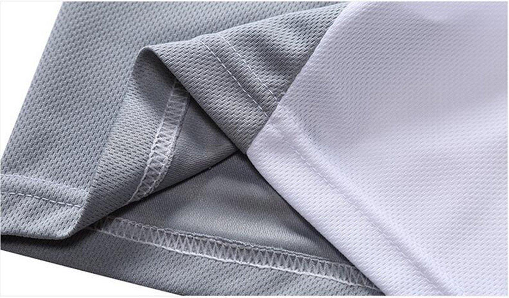Qi Mai Men Outdoor Sunscreen Fishing Coats Quick Drying Rash Guards 1197 (L, White) by Qi Mai (Image #6)