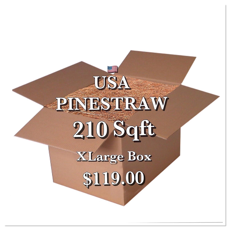 USA Pine Straw - Premium Pine Needle Mulch - 210 Sqft USA Pinestraw