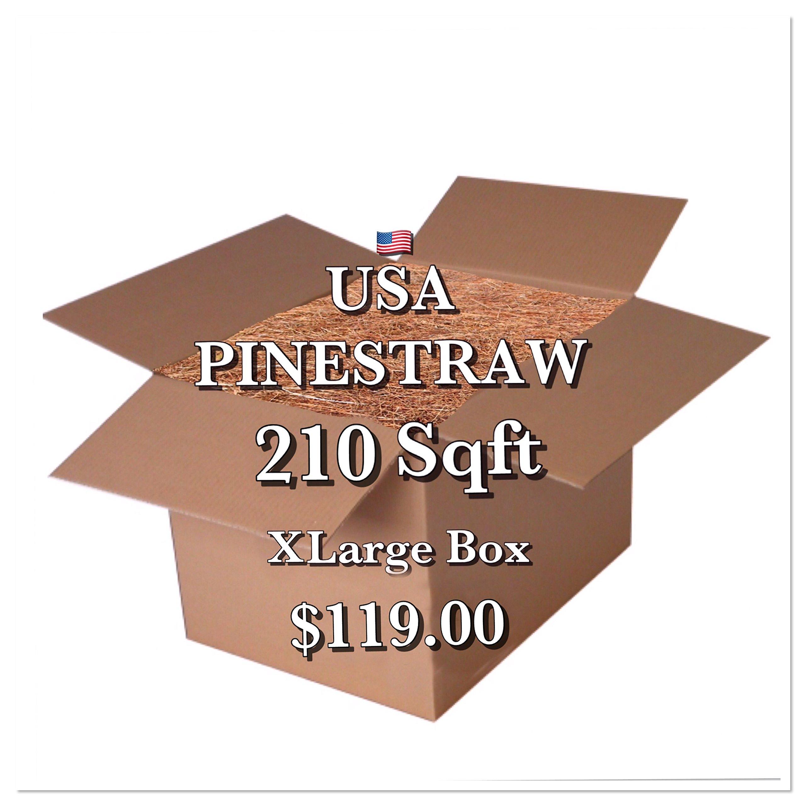 Garden Mulch - 14 '' Premium Long Needle Pinestraw - Covers up to 210 Sqft.