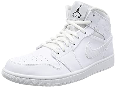 ba0ac4b441b Tênis Nike Air Jordan 1 Retro Mid Triple White (42)  Amazon.com.br ...