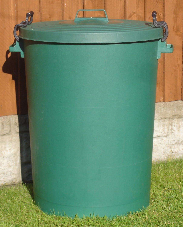 110 Litre Green Bin/Refuse Bin With Lockable Lid (made in the uk ...