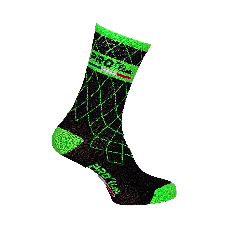 Proline Team Calcetines de ciclismo verdes flúor; 1 par de talla única: Amazon.es: Deportes y aire libre