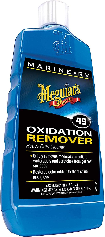 B0000AY4YX Meguiar's M4916 Marine/RV Heavy Duty Oxidation Remover, 16 Fluid Ounces 8112B8nrsBcL