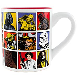 Silver Buffalo SW1732 Star Wars Episode 4 Character Grid Ceramic Mug, 14-Ounces