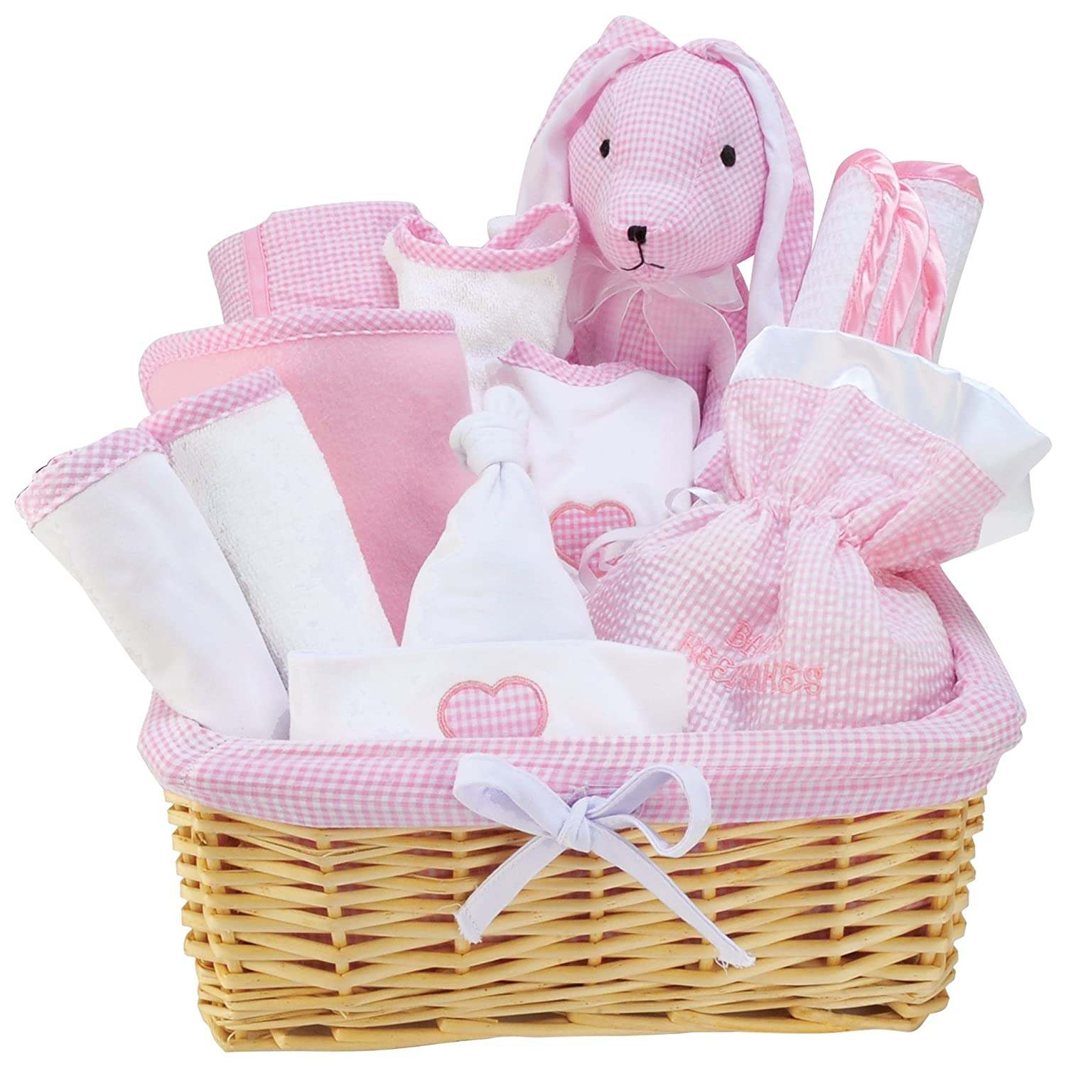 Trend Lab Deluxe 12 Piece Gift Basket Set in Pink 101189