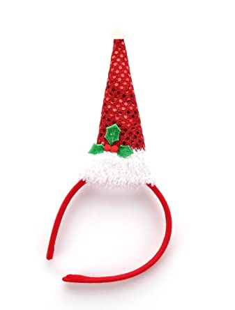 GUSOBO Lovely Christmas Headband With Santa Hat Accessories For Kids Red