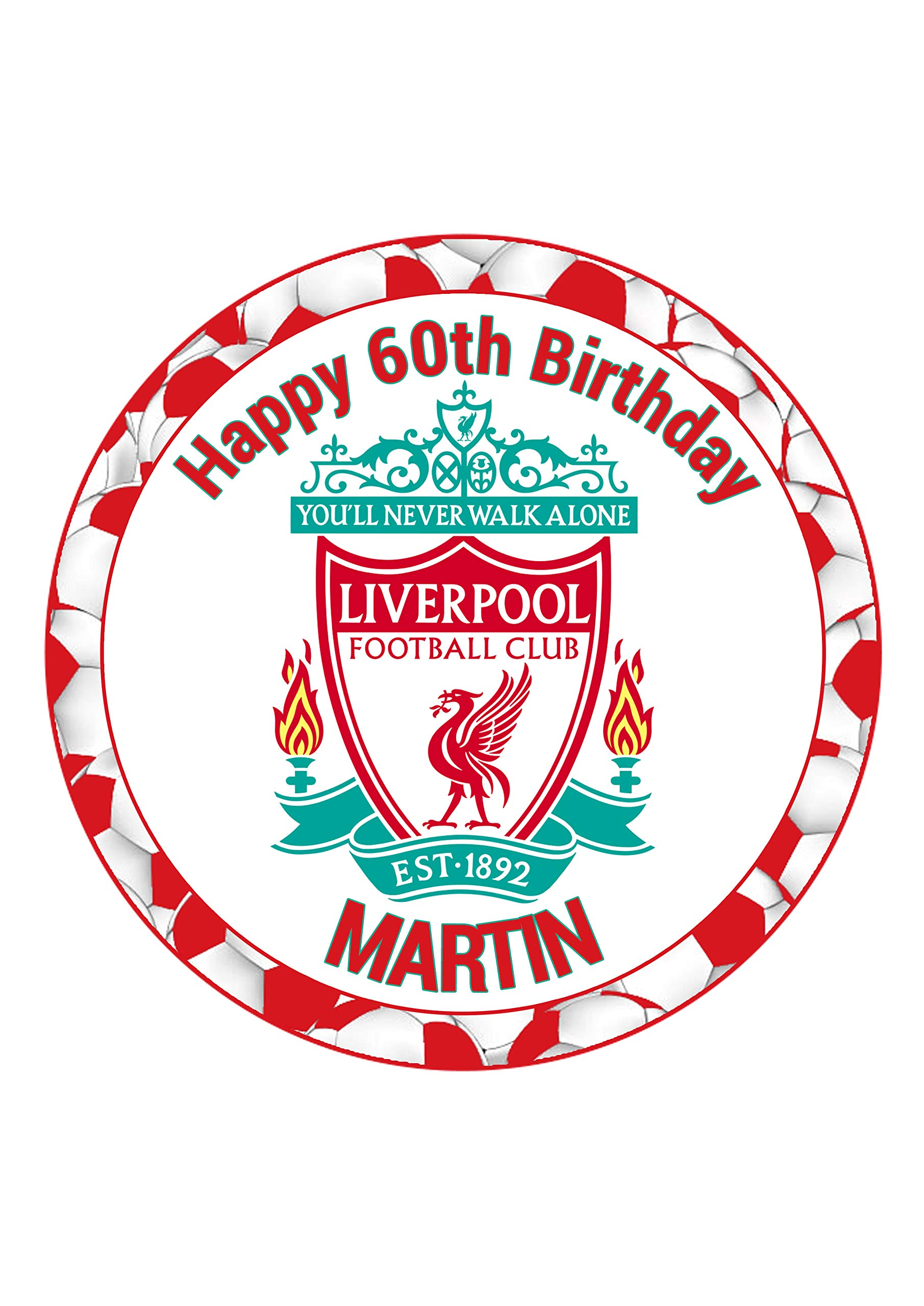 Liverpool Lfc Cake Topper Round Personalised Edible Icing Cake Decoration Buy Online In Lithuania At Lithuania Desertcart Com Productid 156059853