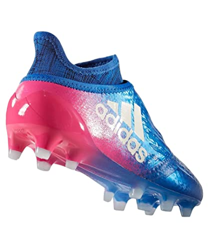 on sale 4a327 fdade Bota jr X 16+ Purechaos FG Blue-White-Shock pink Talla 5,5 UK  Amazon.es   Zapatos y complementos