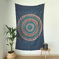 MOMOMUS Tapiz Mandala Indio - 100% Algodón, Grande, Multiuso - Tapices de Pared Decorativos Ideales para la Decoración…
