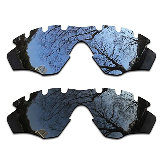 3991b40d037 Image Unavailable. Image not available for. Color  2 Pair Polarized Lens  Replacement for Oakley M2 Vented Black Silver Chrome