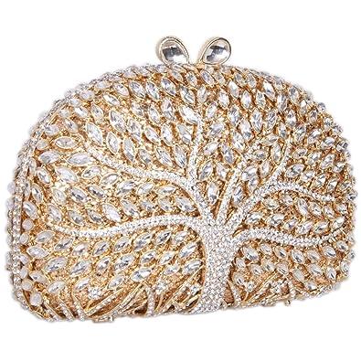 Amazon.com: fawziya Wishing Tree Pattern Bling embrague ...