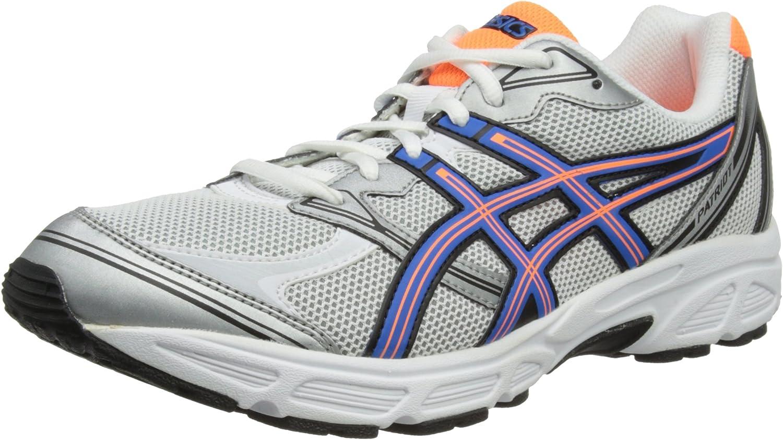 Asics - Zapatillas De Running para hombre, White/Blue/Neon Orange, 40: Amazon.es: Zapatos y complementos