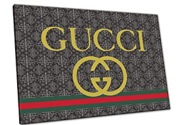 Kuader Tableaux Inspirés De Gucci Logo Impression sur Toile