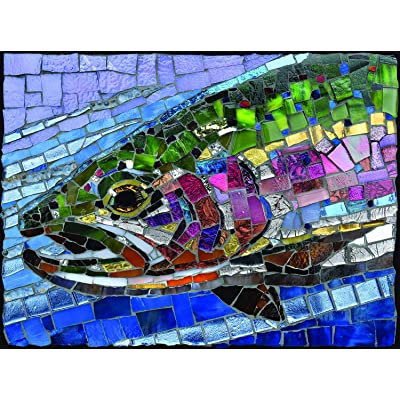 Stained Glass Rainbow Trout 1000 pc Jigsaw Puzzle by SUNSOUT INC: Toys & Games