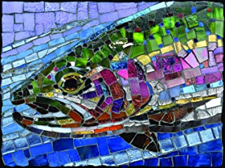 product image for Stained Glass Rainbow Trout 1000 pc Jigsaw Puzzle by SUNSOUT INC