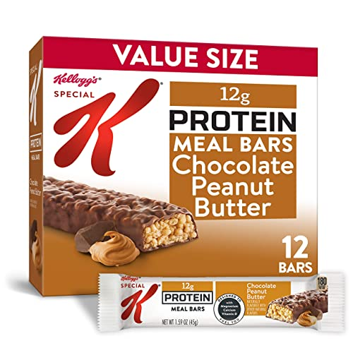 Kellogg s Special K Chocolate Peanut Butter Protein Meal Bars – Office Lunch, Meal Replacement 12 Count