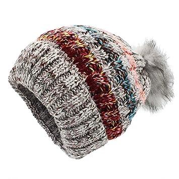 Gestrickte Hüte für Frauen - YOPINDO Mädchen Beanie Hut Stricken ...