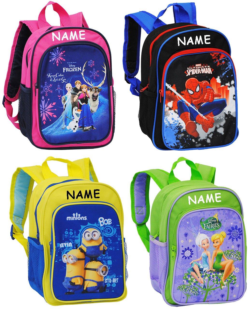 Belldessa Rucksack für Kinder - Disney Fairies - Tinkerbell - incl. Name - Tasche - Kinderrucksack - beschichtet & wasserfest / groß Kind - Mädchen - z.B. für Vors..
