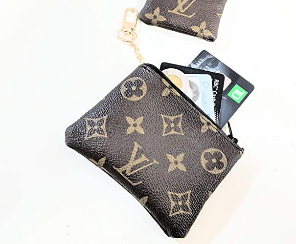 efcb2e5c9ed2 Amazon.com  Handcrafted upcycled and repurposed into coin purse from old authentic  LV bag canvas-please read item description before you make your purchase   ...