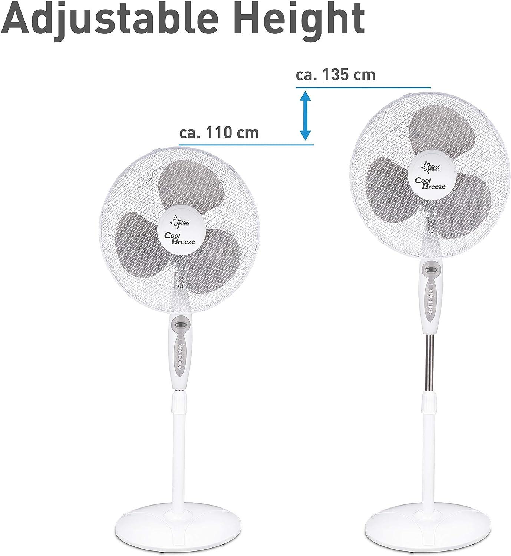 SUNTEC ventilador de pie CoolBreeze 4.000 SV-RC [40 cm Ø aspas, 3 ...