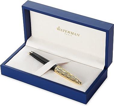 Amazon.com : Waterman Carène Essential Fountain Pen, Gloss Black ...