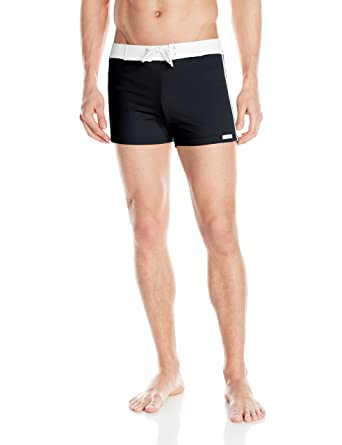1eb96cfdae Sauvage Men's Retro Lycra Solid Swim Trunk, Black, Small