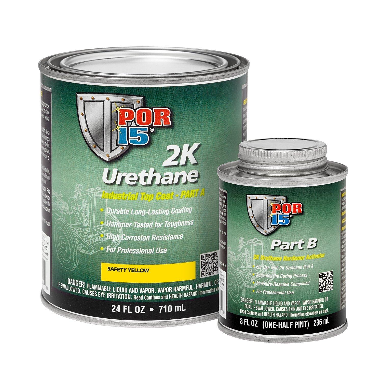 POR-15 43284 Safety Yellow 2K Urethane - 1 quart by POR-15 (Image #1)