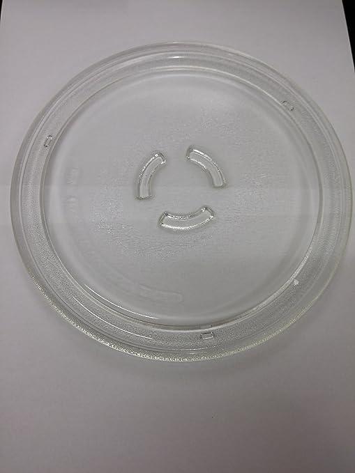 Plato giratorio de cristal 25 cm para horno microondas ...