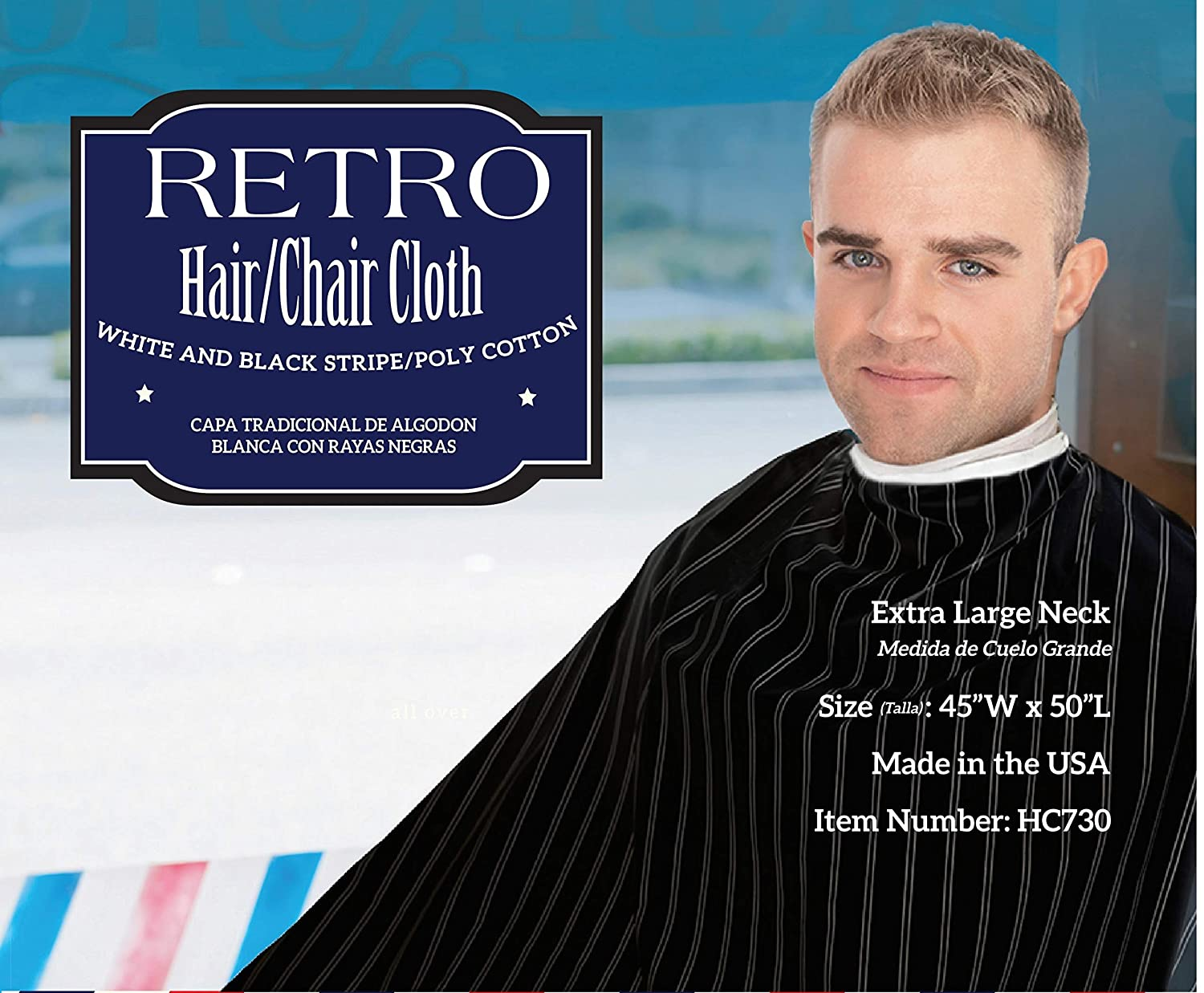 e04d1574d6496f Amazon.com : Old Fashioned Barber Cape Cloth : Hair Styling Product  Accessories : Beauty