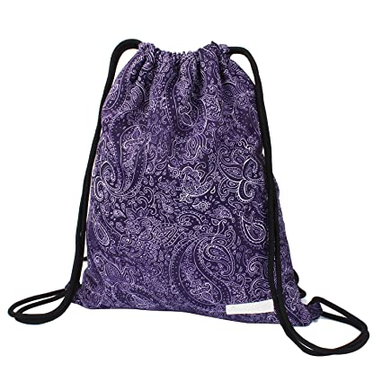 amazon com drawstring backpack waterproof boho print string bag