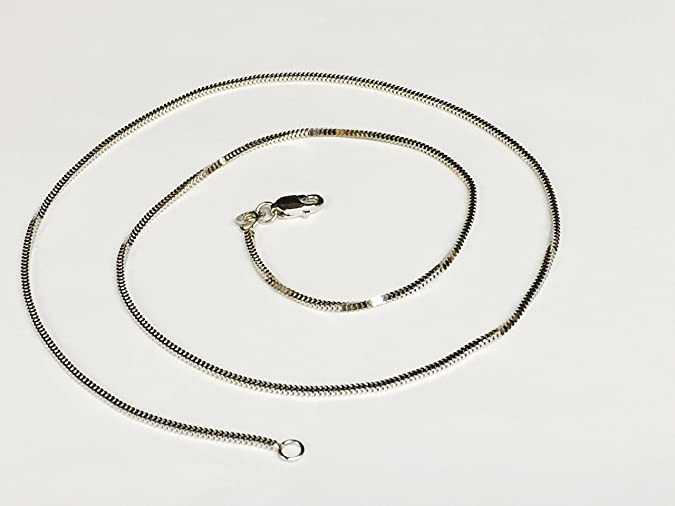14K White Gold Milano Snake Pendant Chain Necklace 1.1 Mm Mil010
