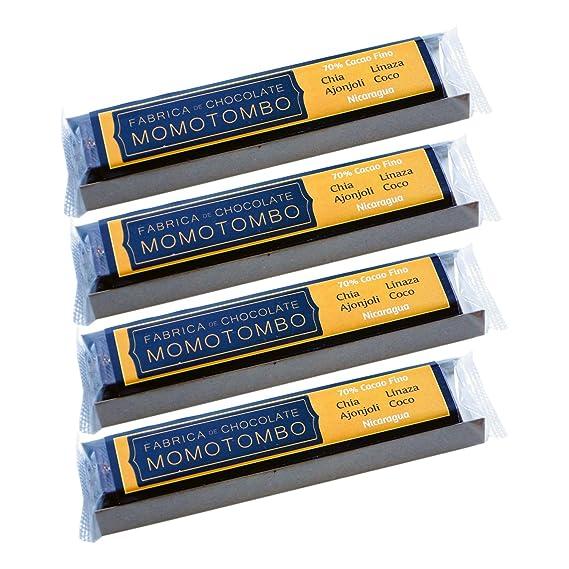 Momotombo-Chocolate Negro-Chia,Lino,Sésamo,Coco- Cacao Nicaragua 70