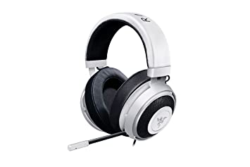 Razer Kraken Pro V2: Lightweight Aluminum Headband   Retractable Mic   In Line Remote   Gaming Headset Works With Pc, Ps4, Xbox One, Switch, & Mobile Devices   White by Razer