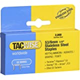 Tacwise Type 53/6 mm Stainless Steel Staples for Staple Gun (2000 Box)
