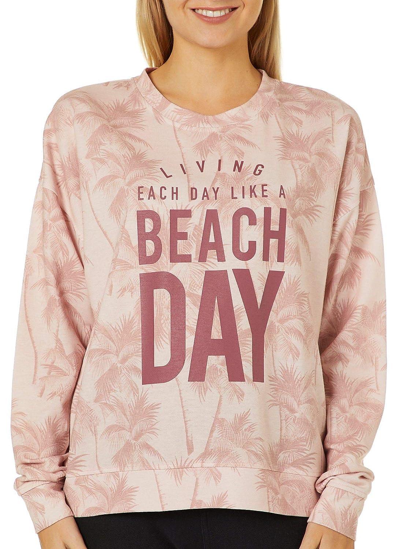 Exist Juniors Living Each Day Like A Beach Day Sweatshirt