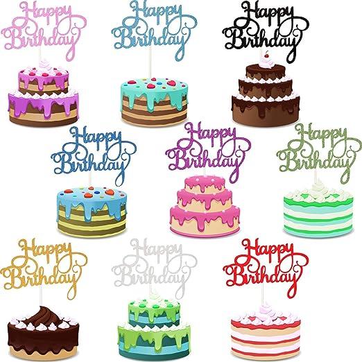 45 piezas de decoración para tarta de cumpleaños para ...