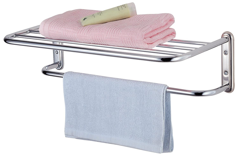 Exceptional Chrome Towel Rack Wall Mounted Part - 8: Taylor U0026 Brown® Chrome Wall Mounted Bathroom Towel Holder Shelf Rack:  Amazon.co.uk: Kitchen U0026 Home
