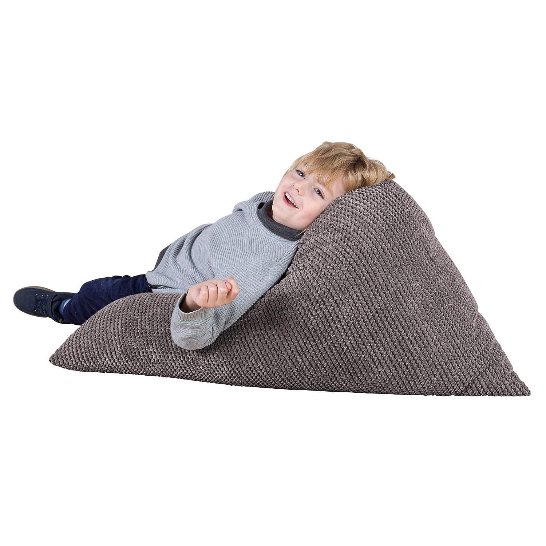 Carbone Grigio Lounge Pug/® Pompon Sacco Pouf Poltrona Relax per Bambini