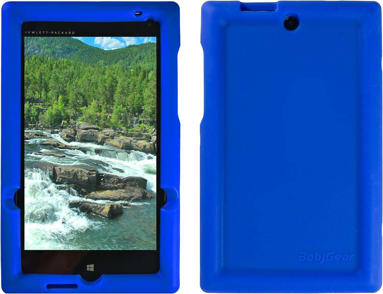 Bobj Rugged Case for HP Stream 7 - BobjGear Custom Fit - Patented Venting - Sound Amplification - BobjBounces Kid Friendly (Batfish Blue)