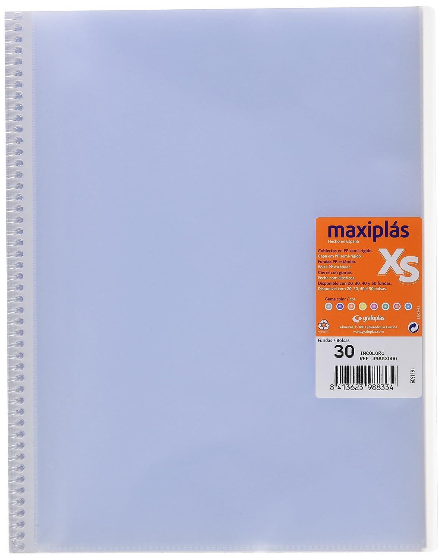 Grafoplas 39883000–Cartella con 30buste, A4, copertina in PP, Trasparente Sí