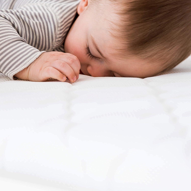 Newton Colch/ón de cuna lavable tejido y transpirable y demostrado que reduce el riesgo de asfixia con un producto no t/óxico e hipoalerg/énico 120 x 60 x 10cm