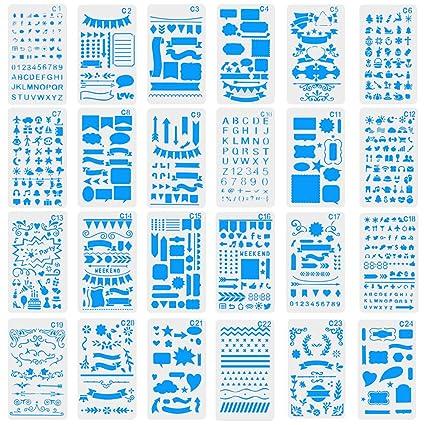 CCMART - Plantillas de plástico para Diario, Cuadernos de ...